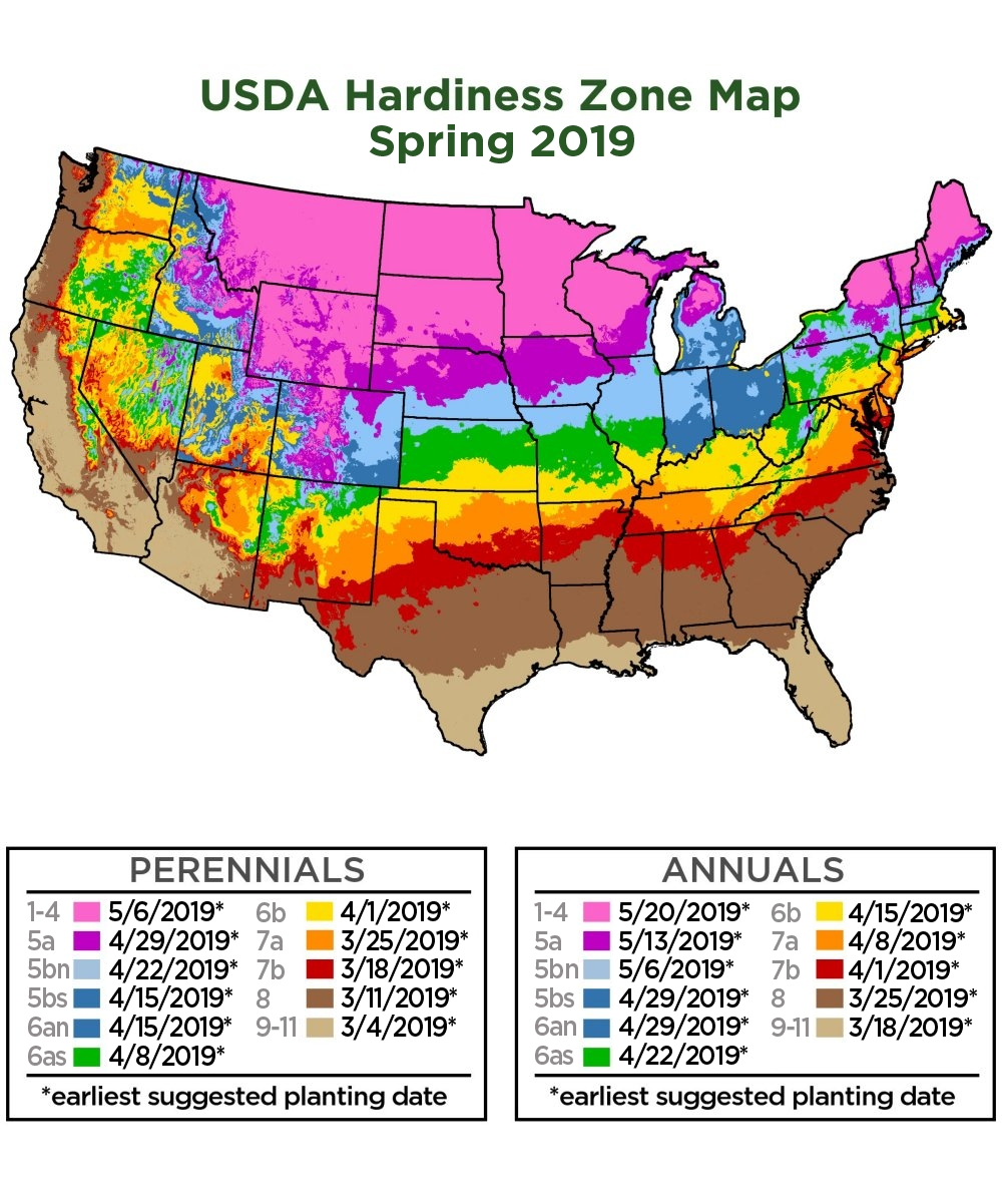 Plant Zone Map Us Cottage Farms Direct